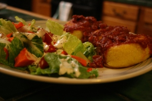 Salad and Polenta