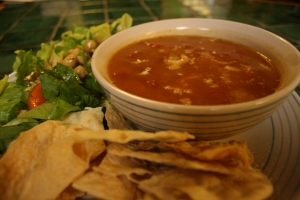 Yummy Southwestern Tortilla Soup.