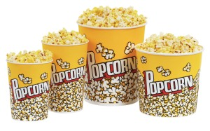 Movie theater popcorn is pricey and unhealthy.