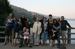 My family in front of Donner Lake